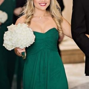 After Six Forrest Green Bridesmaid Dress
